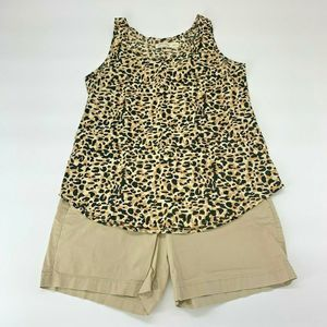 Old Navy Women Tank Top Shorts Sz 4